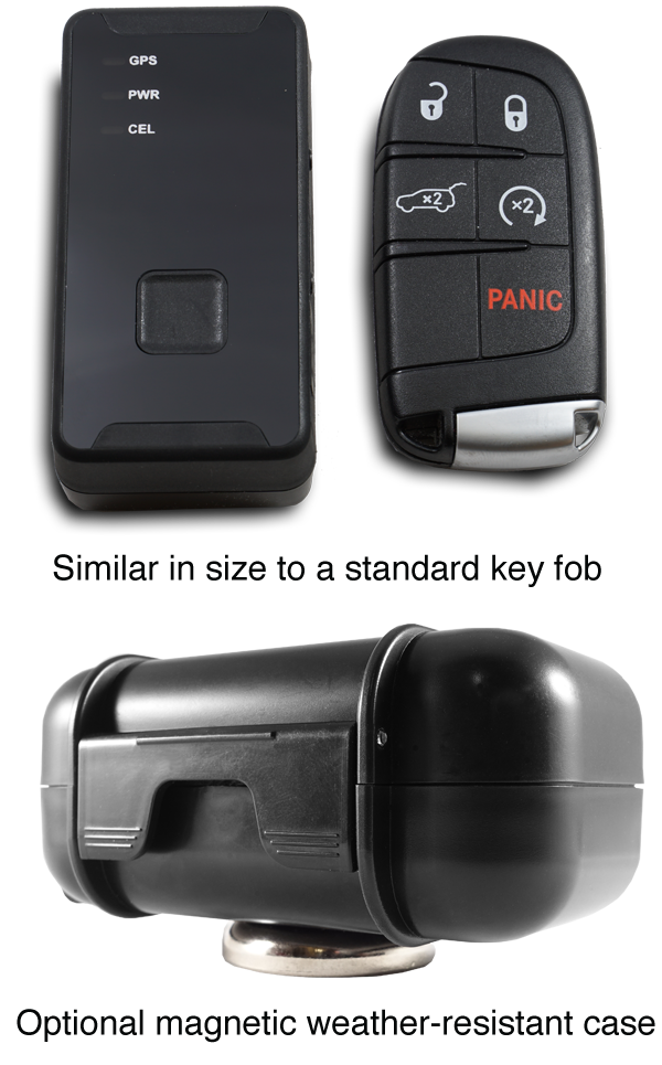 product images for AwareGPS mini tracker fob case